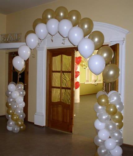 Как делают арку из шаров