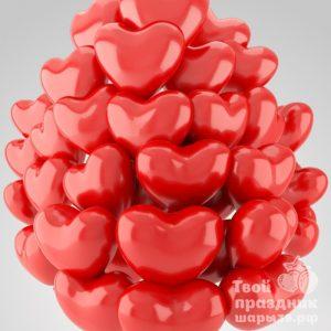 Облако из 30 шаров сердечек