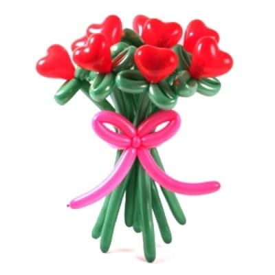 Собрать свой букет из цветов-сердечек