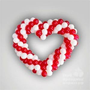 Сердце из воздушных шаров 12 см