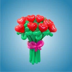 Цветы из сердечек