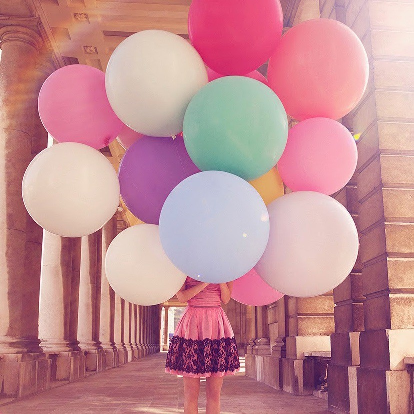Открытки воздушные шары девушка