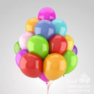 Связка из 15 гелиевых шаров. Облако из 15 гелиевых шариков. 15 воздушных шариков наполненных гелием