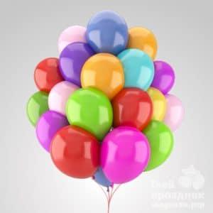 Связка из 20 гелиевых шаров. Облако из 20 гелиевых шариков. 20 воздушных шариков наполненных гелием