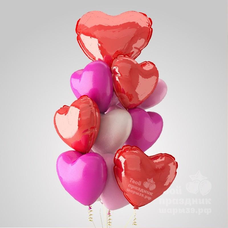 Букет из шаров с сердцами