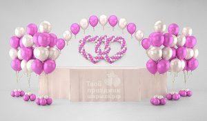 """Свадебное оформление """"розовая нежность"""""""
