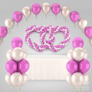 Комплект свадебного оформления Розовая нежность