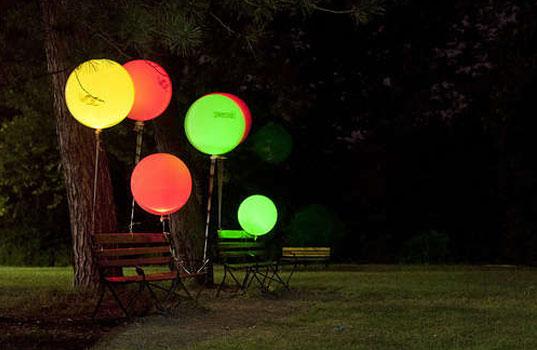 Большие светящиеся шары 45 см