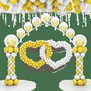 Заказ воздушных и гелиевых шаров с доставкой +7 921 710-01-67. Свадебное оформление в Калининграде!