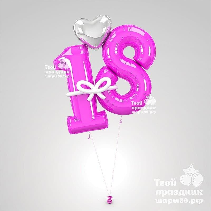 Букет из гелиевых шаров с цифрами - шары39.рф