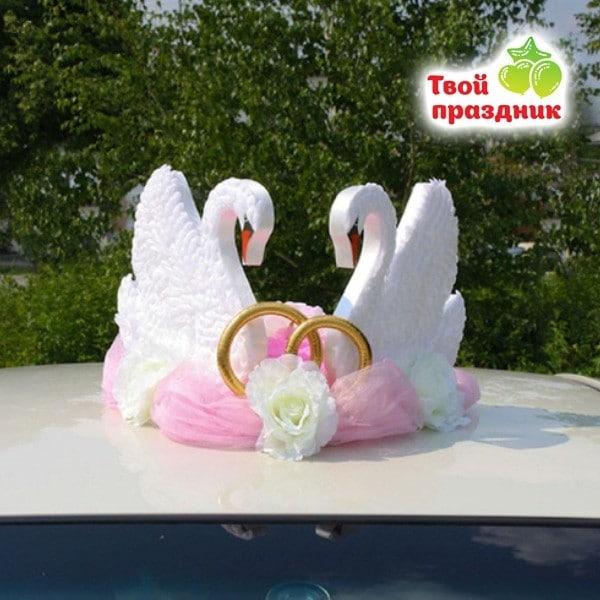 Украшение на крышу Лебеди, 35х55х33 см
