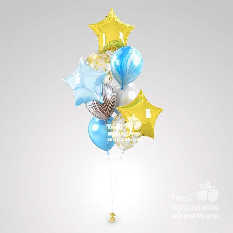 Лазурная Звезда - букет из гелиевых шаров! Шары39.рф, Калининград