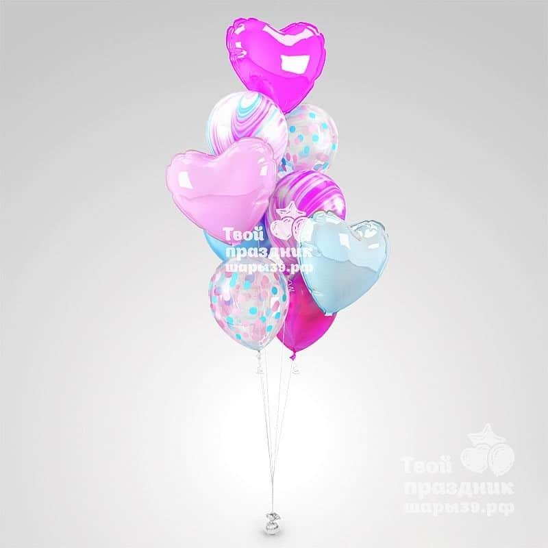 Букет из гелиевых шаров для дамы «Розовый жемчуг». Шары39.рф
