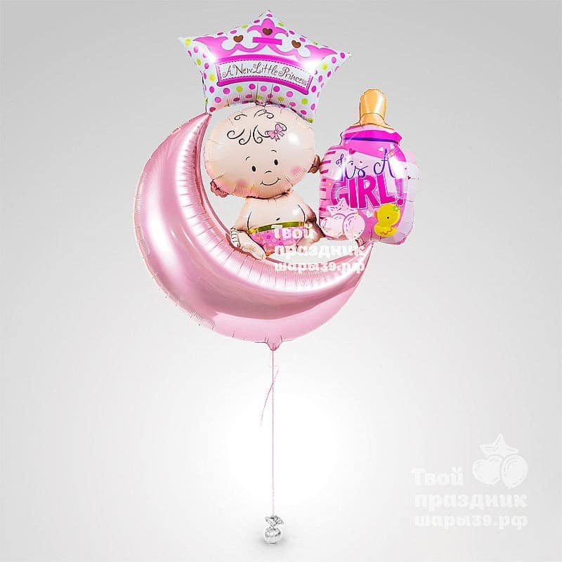 Композиция из гелиевых шаров «Маленькая принцесса»