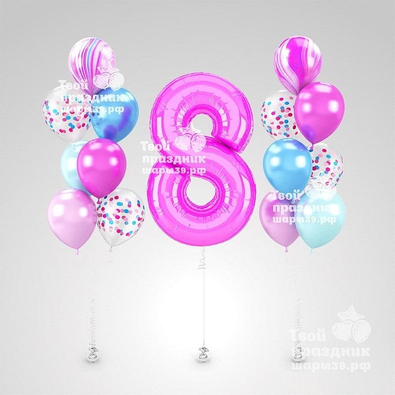 Оформление дня рождения шарами, Калининград