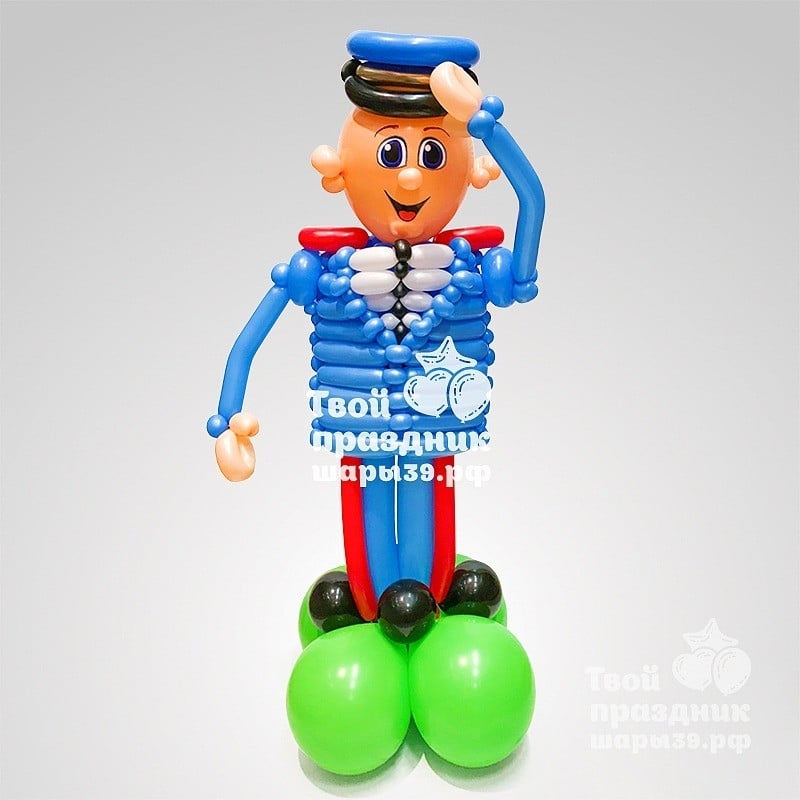 Полицейский - фигура из латексных шариков! Шары39.рф, Калининград