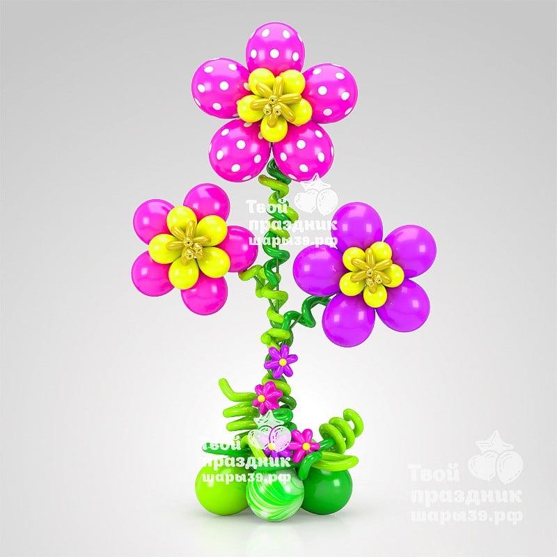Большие цветы из шаров - чудесные элементы оформления! Шары39.рф